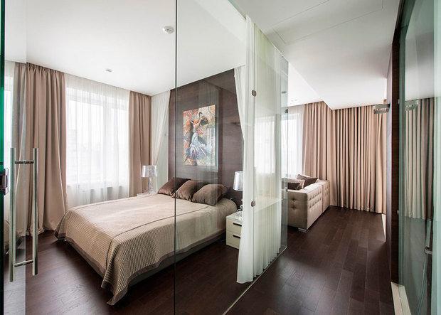 Фотография: Спальня в стиле Современный, Квартира, Дома и квартиры, ИП-46с – фото на InMyRoom.ru
