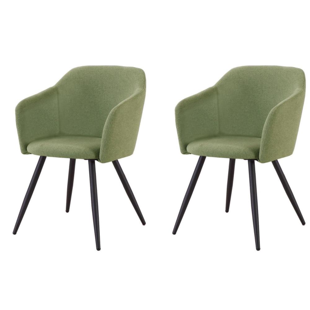 Купить Набор из двух стульев с обивкой из ткани зеленого цвета, inmyroom, Китай