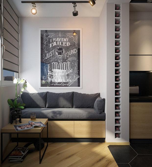 Фото из портфолио Дизайн квартиры-студии – фотографии дизайна интерьеров на INMYROOM