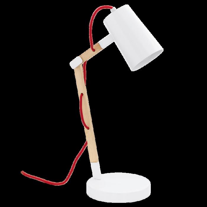 Настольная лампа Torona из дерева и металла