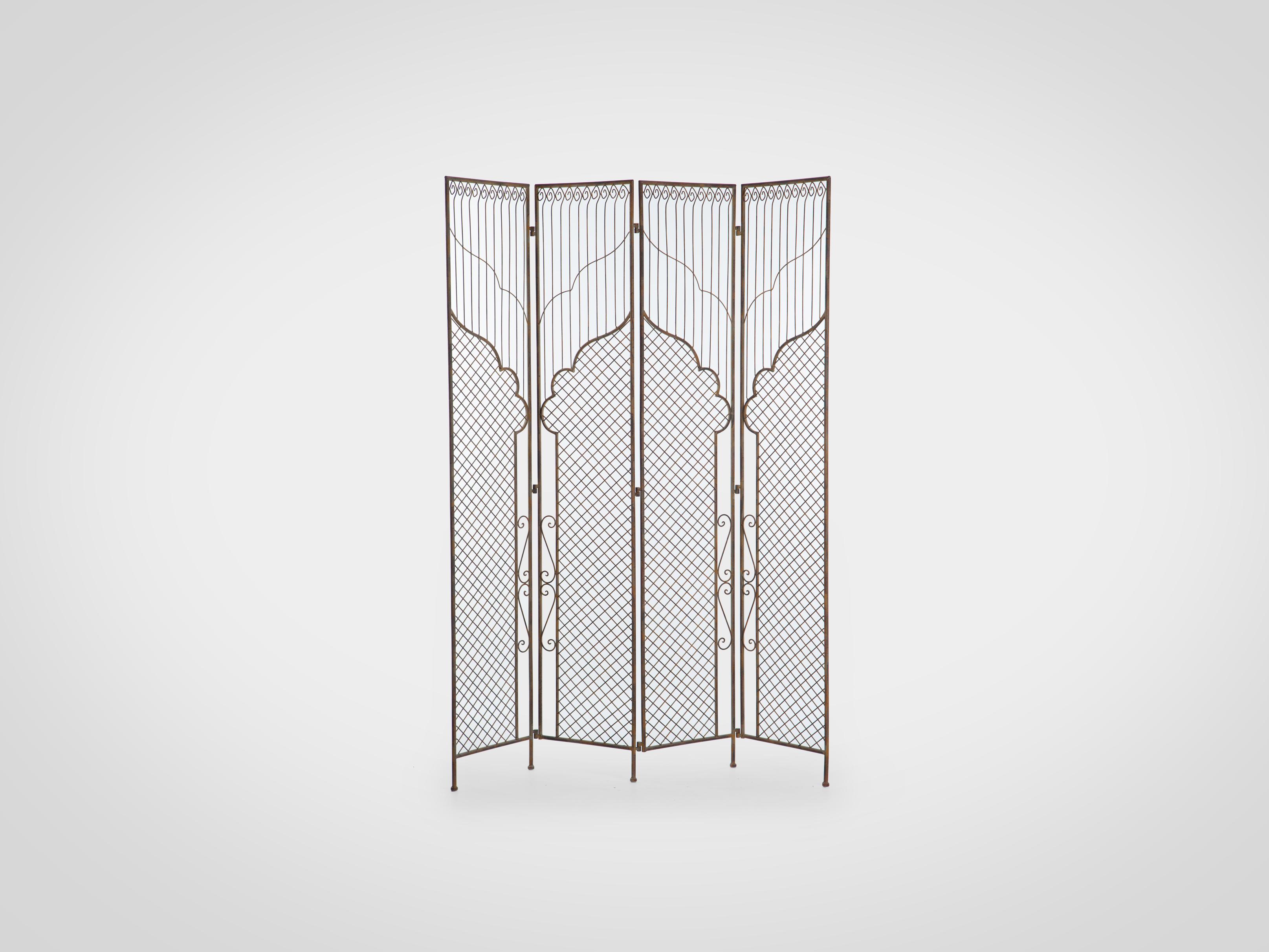 Купить Ширма кованая из четырех створок 185x148x3 см, inmyroom, Китай
