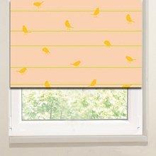 Рулонные шторы в гостиную: Птицы на ветвях