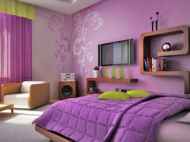 Фотография: Спальня в стиле Современный, Хай-тек, Обои, Переделка, Плитка, Краска, Стеновые панели – фото на InMyRoom.ru