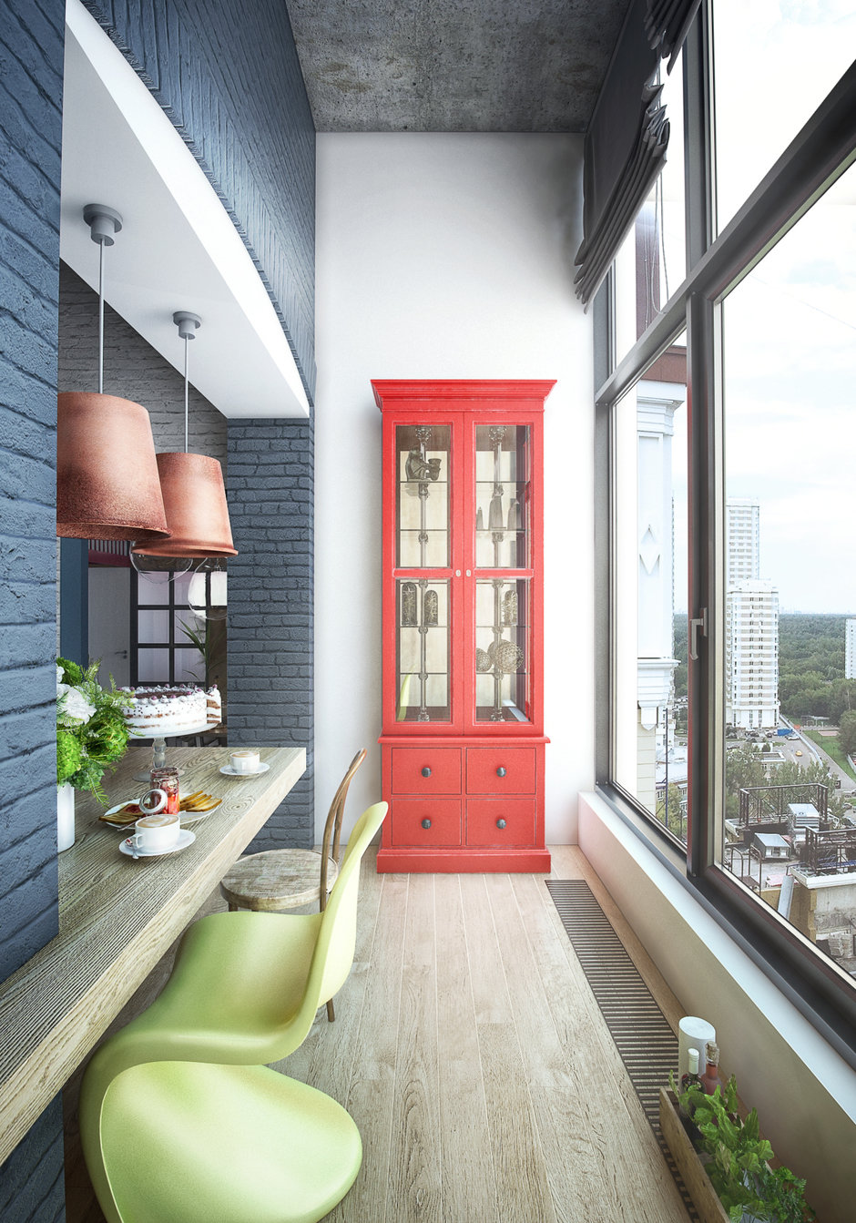 Фотография: Балкон в стиле Лофт, Квартира, Проект недели, Москва, ToTaste Studio, Монолитный дом, 4 и больше, 60-90 метров, ЖК «Соколиный форт» – фото на InMyRoom.ru