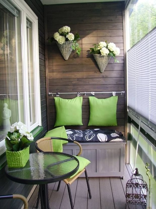Фотография: Балкон в стиле Современный, Квартира, Декор, Советы, как выбрать жалюзи, жалюзи на окна – фото на InMyRoom.ru
