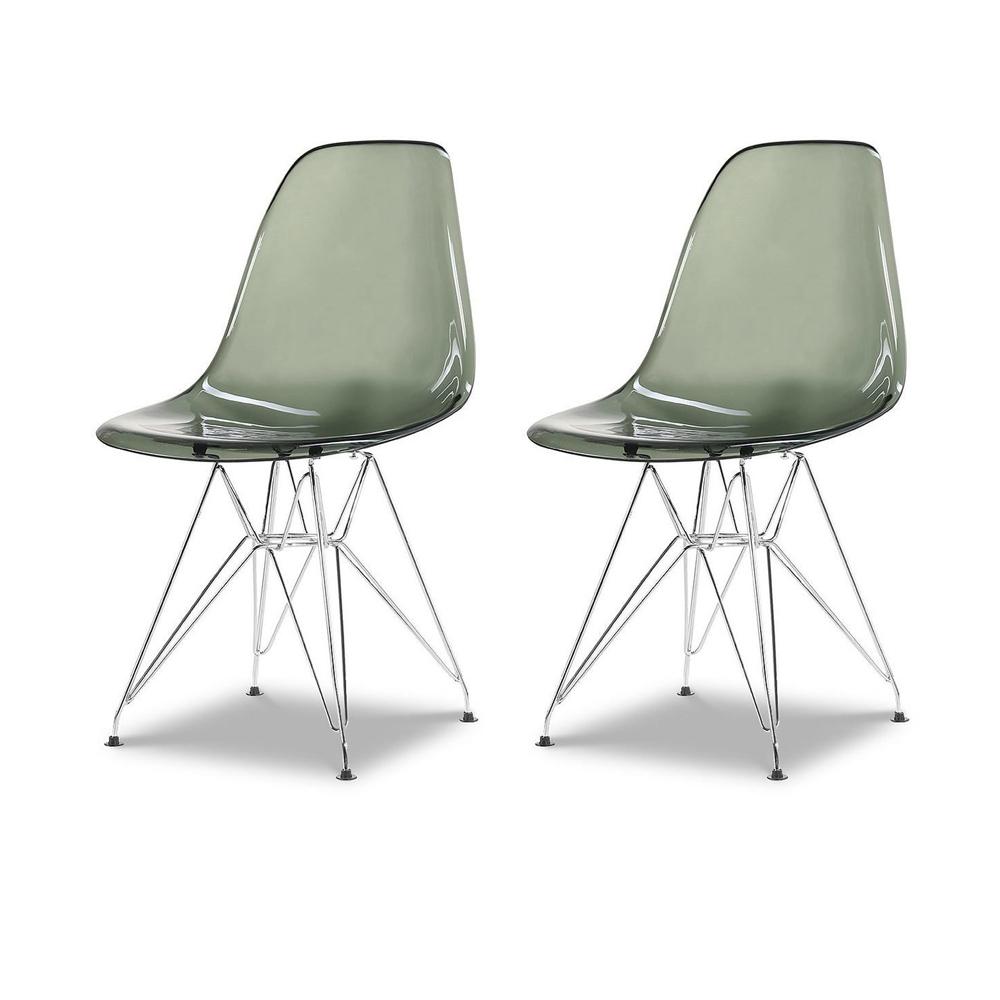 Купить Набор из двух стульев с серым прозрачным сидением, inmyroom, Китай