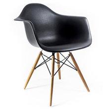 """Стул """"Eames"""" на деревянных ножках Черный"""