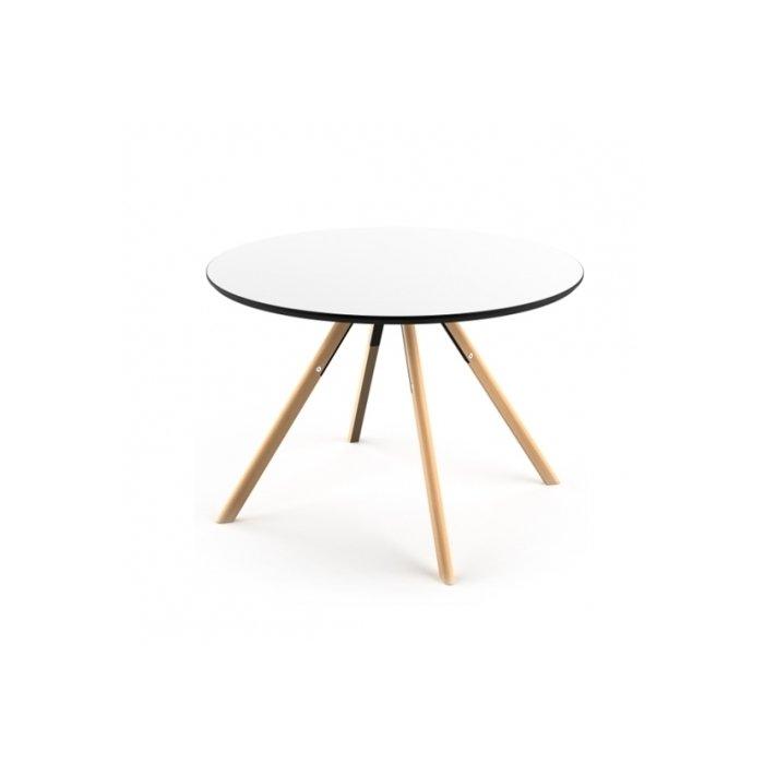 Круглый обеденный стол Arnhem с ножками из букового дерева