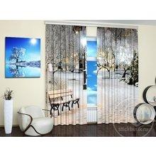 Фотошторы для гостиной: Зимний парк