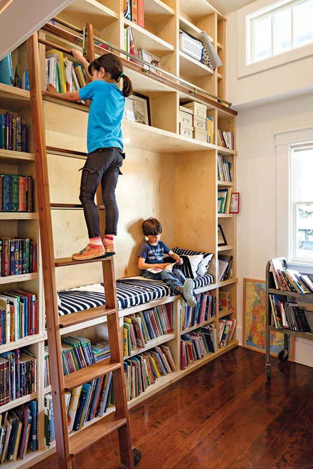 Фотография: Детская в стиле Современный, Системы хранения, Библиотека, Домашняя библиотека – фото на InMyRoom.ru