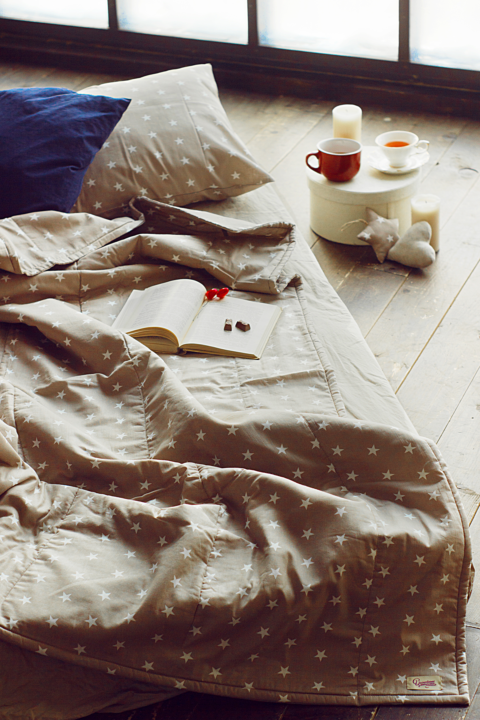 Одеяло стеганое звездочка