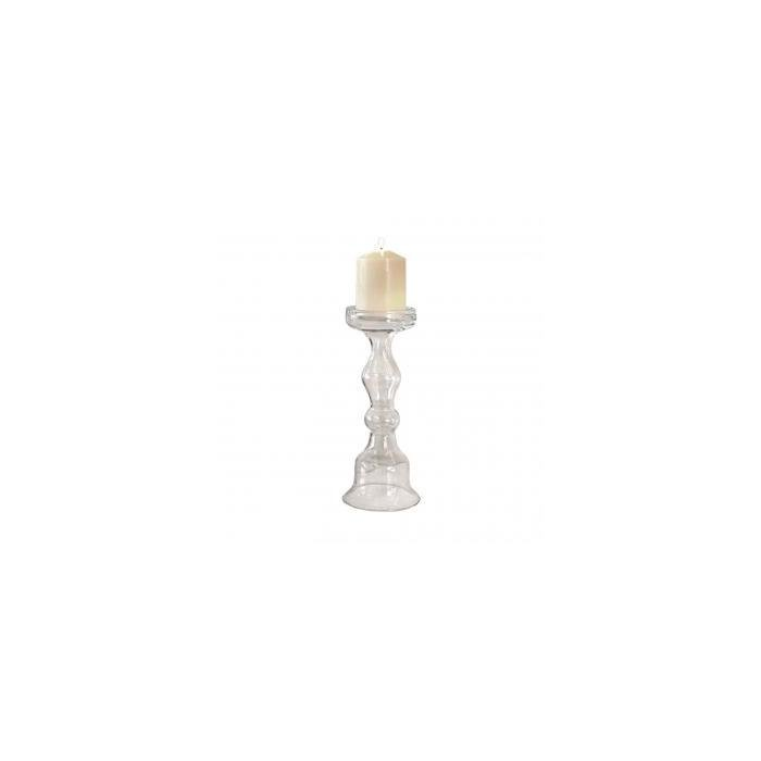 Подсвечник CLEAR GLASS CANDLE HOLDER - L