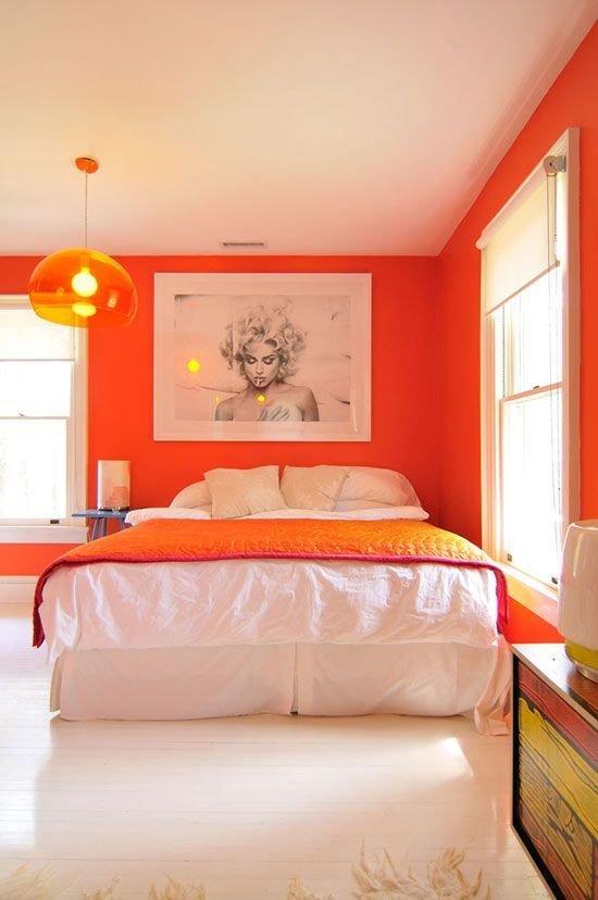Фотография: Спальня в стиле Скандинавский, Современный, Декор интерьера, Декор дома, Цвет в интерьере – фото на InMyRoom.ru