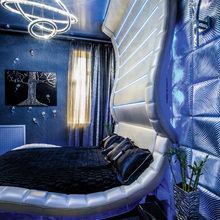 Фотография: Спальня в стиле Хай-тек, Квартира, Дома и квартиры, Интерьеры звезд, Проект недели, Москва – фото на InMyRoom.ru