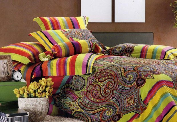 Фотография: Спальня в стиле Современный, Эклектика, Декор интерьера, DIY, Текстиль – фото на InMyRoom.ru