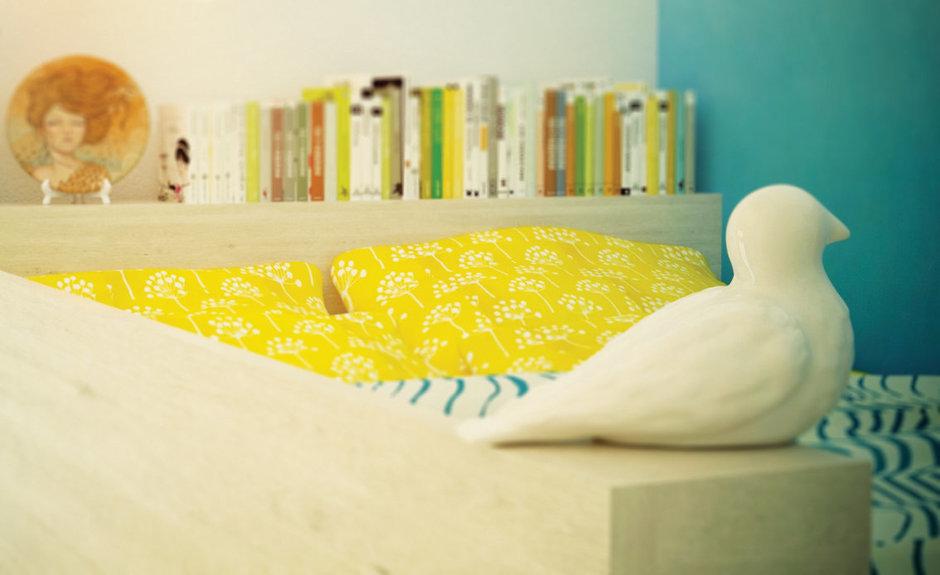 Фотография:  в стиле , Спальня, Скандинавский, Квартира, Проект недели, Москва, Ирина Севостьянова, Старый фонд, Кирпичный дом – фото на InMyRoom.ru