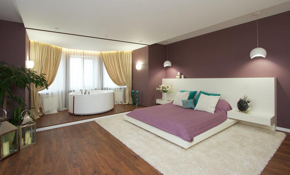 Фотография: Спальня в стиле Современный, Дом, Планировки, Мебель и свет, Дома и квартиры, Мансарда – фото на InMyRoom.ru