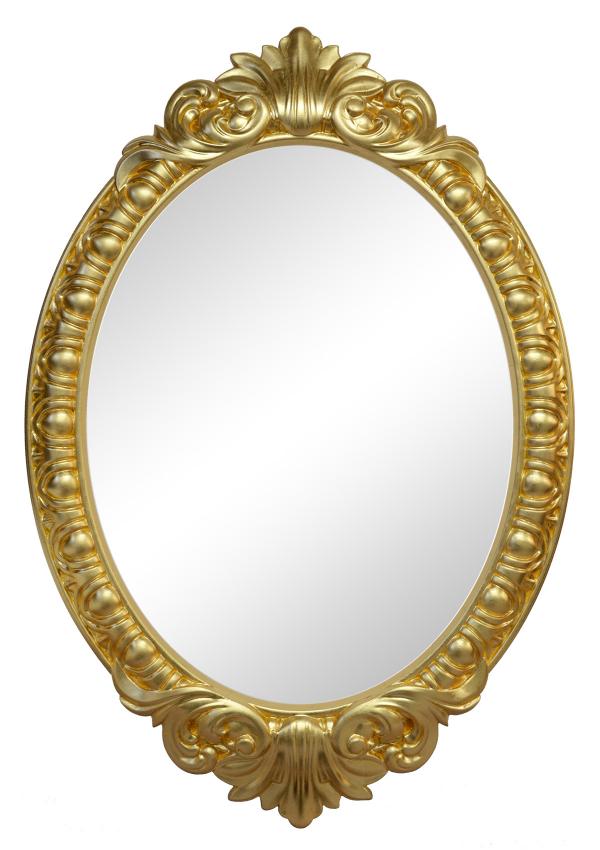 Настенное зеркало венеция в раме золотого цвета