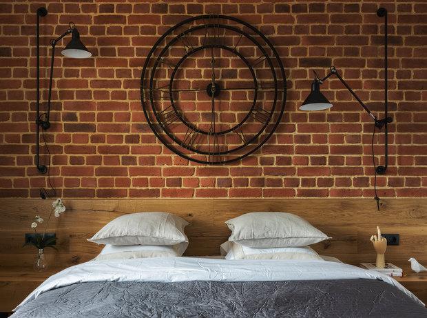 Фотография: Спальня в стиле Лофт, Квартира, Проект недели, Одинцово, Geometrium, Монолитный дом, ЖК «Сколковский» – фото на INMYROOM