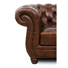 Кожаный диван честерфилд