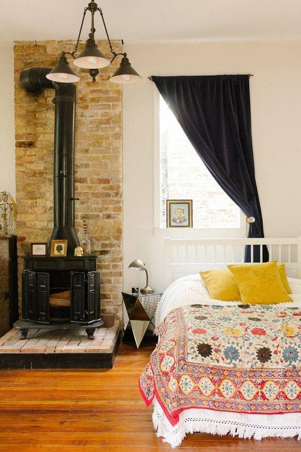 Фотография: Спальня в стиле Скандинавский, Интерьер комнат, Подушки, Ковер – фото на InMyRoom.ru