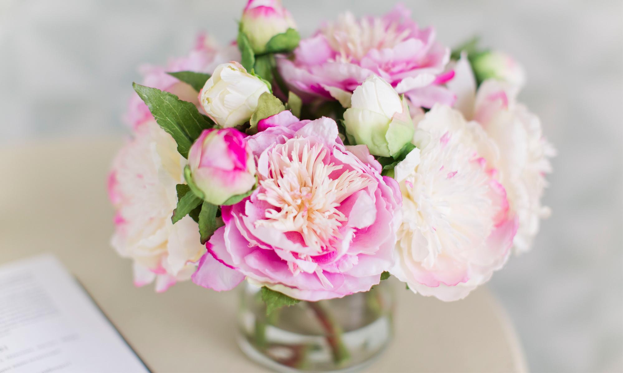 Купить Композиция из искусственных цветов - садовые пионы, inmyroom, Россия