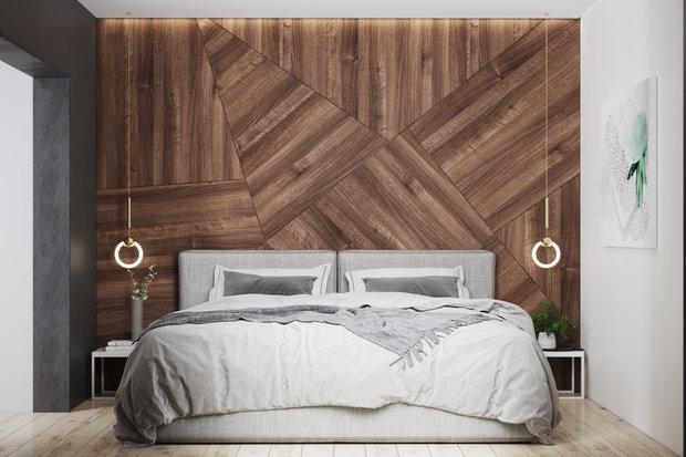 Фотография: Спальня в стиле Минимализм, Квартира, Проект недели, Geometrium, Более 90 метров, Kronospan – фото на INMYROOM