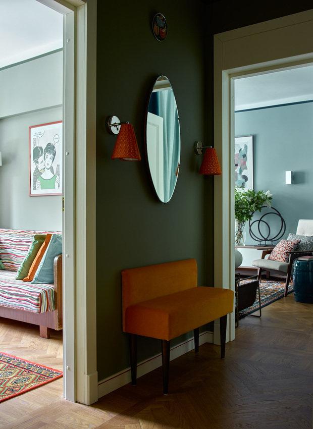 Фотография: Прихожая в стиле Эклектика, Малогабаритная квартира, Квартира, Проект недели, Москва, Кирпичный дом, 2 комнаты, до 40 метров, 40-60 метров, Инна Зольтманн – фото на INMYROOM