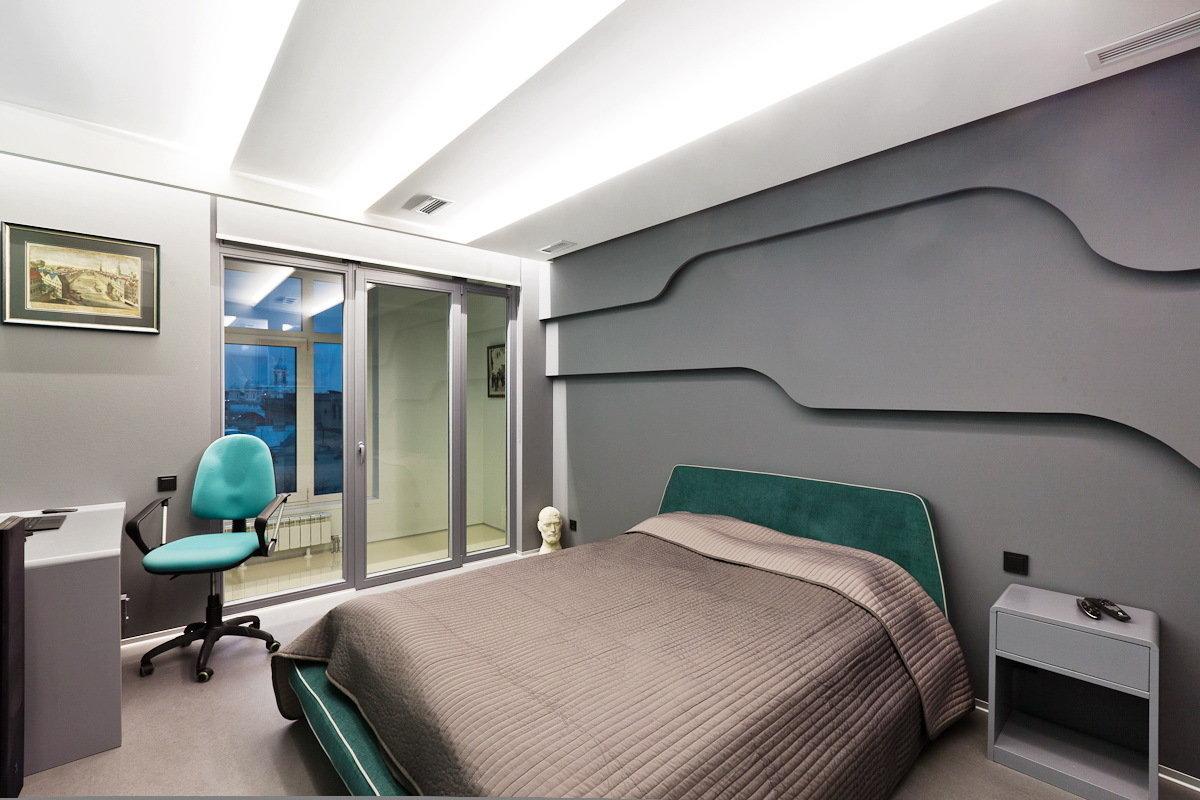 Современная спальня в стиле хай тек
