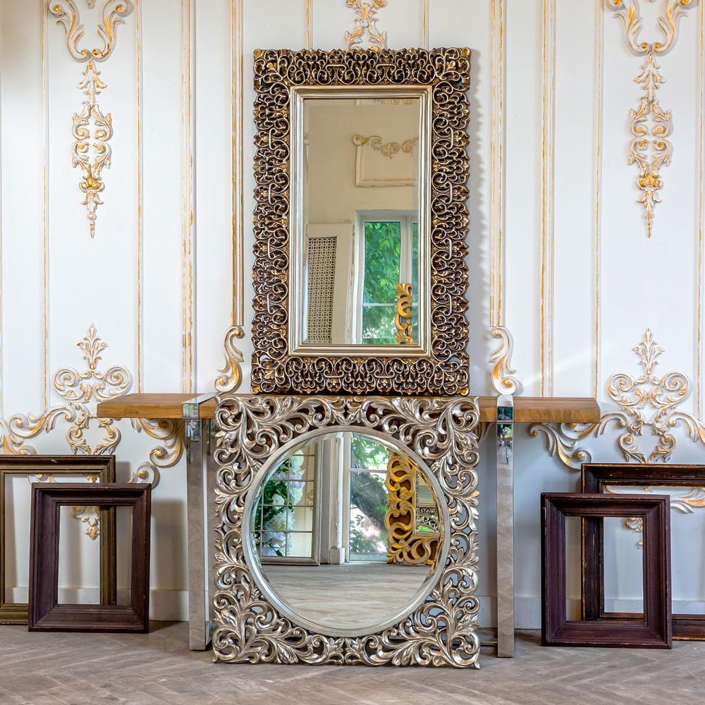 Настенное зеркало багдад в раме цвета состаренной бронзы фото