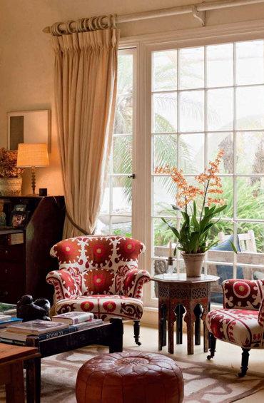 Фотография: Гостиная в стиле Прованс и Кантри, Декор интерьера, Текстиль – фото на InMyRoom.ru