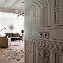 Фотография: Гостиная в стиле Кантри, Квартира, Цвет в интерьере, Дома и квартиры, Стены, Балки – фото на InMyRoom.ru