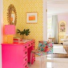 Фотография: Мебель и свет в стиле Эклектика, Декор интерьера, Дизайн интерьера, Цвет в интерьере, Желтый – фото на InMyRoom.ru