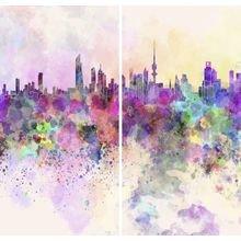 Комплект фотоштор в гостиную: Город мечты