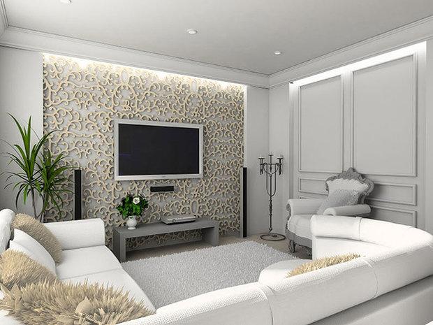 Фотография: Гостиная в стиле Классический, Современный, Декор интерьера, Декор дома, Зеркало – фото на InMyRoom.ru