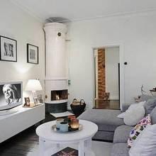 Фотография: Гостиная в стиле Скандинавский, Квартира, Швеция, Мебель и свет, Дома и квартиры, Гетеборг – фото на InMyRoom.ru