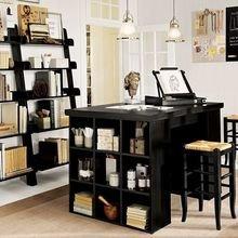 Фотография: Офис в стиле Кантри, Кабинет, Интерьер комнат, Системы хранения – фото на InMyRoom.ru