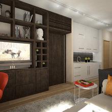 Фото из портфолио Кухня-гостиная в маленькой квартире – фотографии дизайна интерьеров на InMyRoom.ru