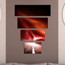 Стильная полиптих для декора стен: Красная дорога