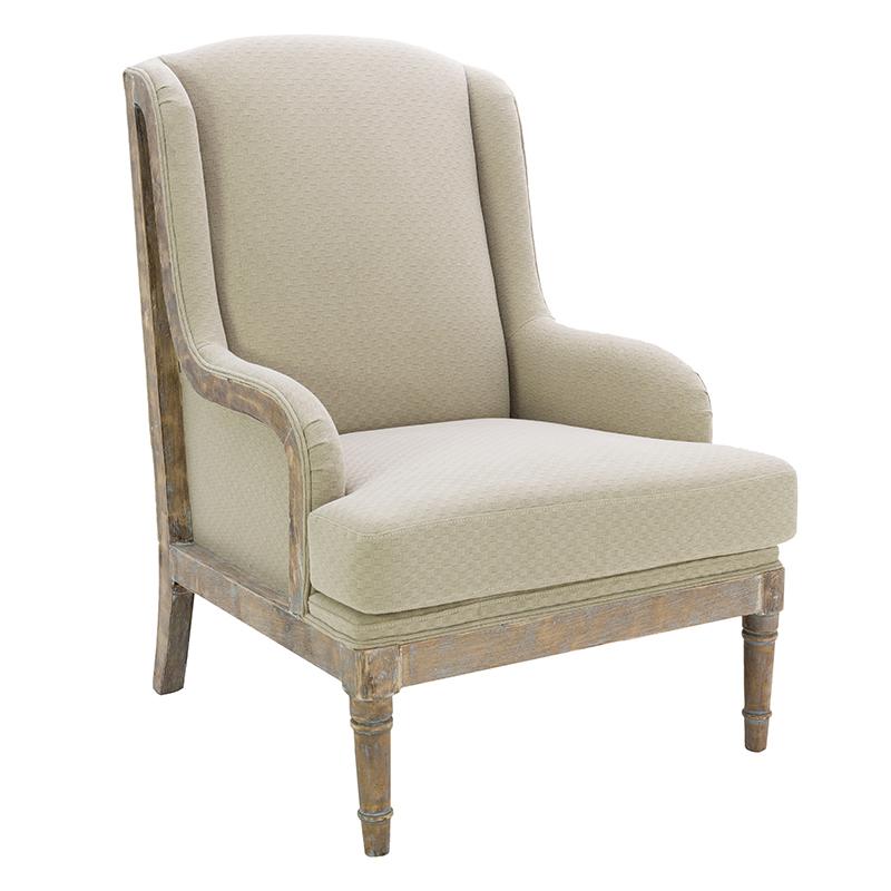 Купить со скидкой Кресло из дерева и хлопка бежевое