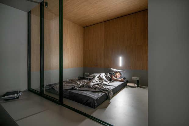Фотография: Спальня в стиле Минимализм, Современный, Квартира, Студия, Проект недели, Киев, Сталинка, Кирпичный дом, до 40 метров, 40-60 метров, U Concept – фото на INMYROOM