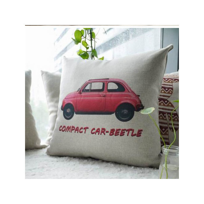 "Чехол на подушку ""VW жук"" Красный"