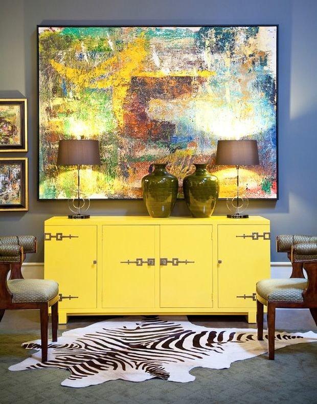 Фотография: Мебель и свет в стиле Современный, Декор интерьера, Декор, абстрактная живописть в интерьере, абстрактное искусство в интерьере – фото на InMyRoom.ru