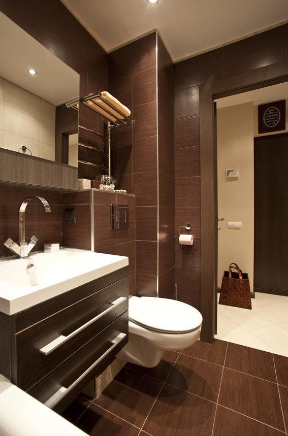 Фотография: Ванная в стиле Современный, Хай-тек, Квартира, Дома и квартиры – фото на InMyRoom.ru