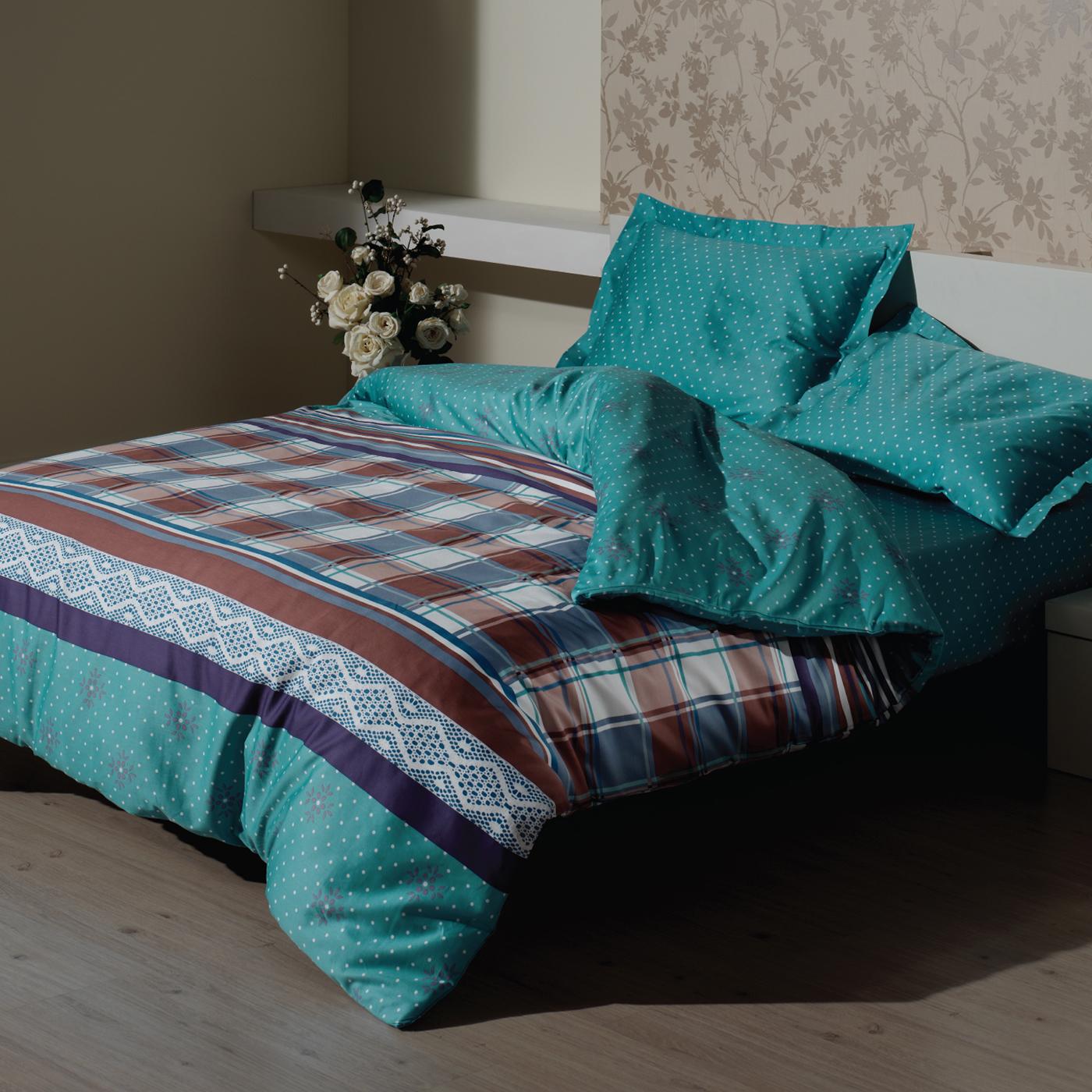 Купить Комплект постельного белья Lacy Turquoise Euro, inmyroom, Турция
