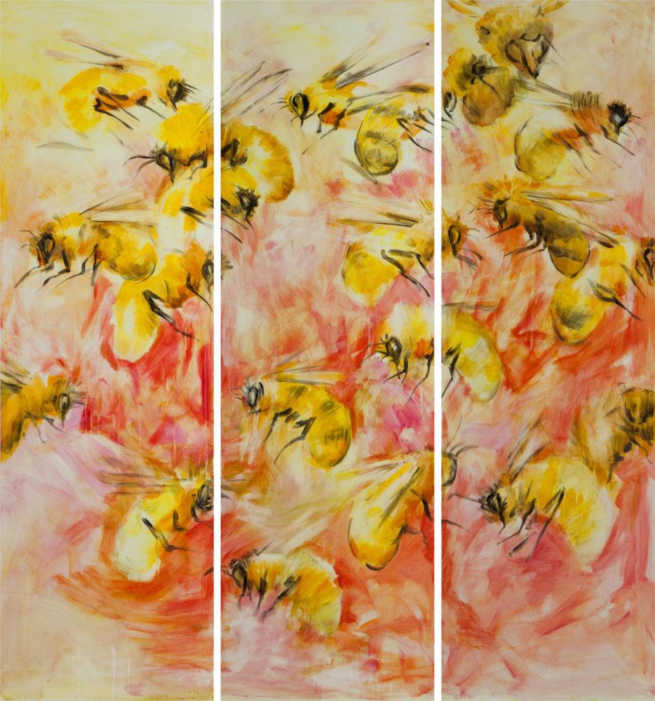 Купить Деревянное панно пчела, inmyroom
