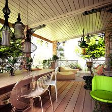 Фотография: Балкон, Терраса в стиле Кантри, Квартира, Дом, Дома и квартиры, Проект недели – фото на InMyRoom.ru