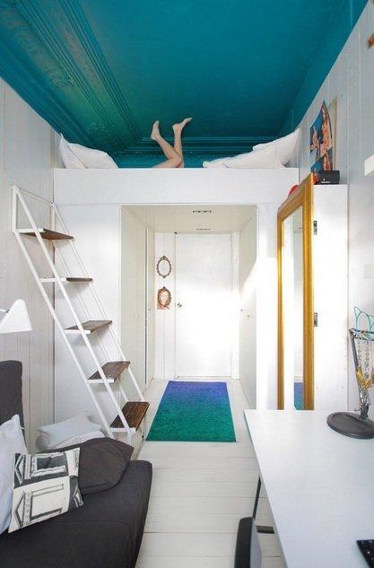Фотография: Прочее в стиле , Спальня, Малогабаритная квартира, Квартира, Дома и квартиры, Перепланировка – фото на InMyRoom.ru