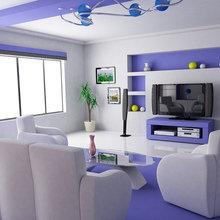 Фотография: Гостиная в стиле Хай-тек, Планировки, Индустрия, События, Ремонт на практике – фото на InMyRoom.ru
