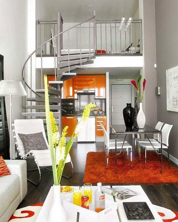 Фотография: Гостиная в стиле Хай-тек, Малогабаритная квартира, Квартира, Дома и квартиры – фото на InMyRoom.ru